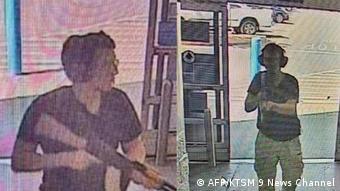 Imagens de câmeras de segurança mostram atirador