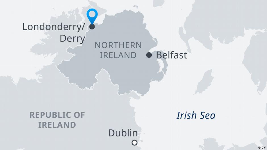Republic Of Ireland And Northern Ireland Map.Northern Ireland Blast Targets Police Near Border News Dw