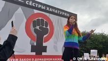 Freiheit für Schwester Chatschaturjan-Kundgebung in Sankt-Petersburg