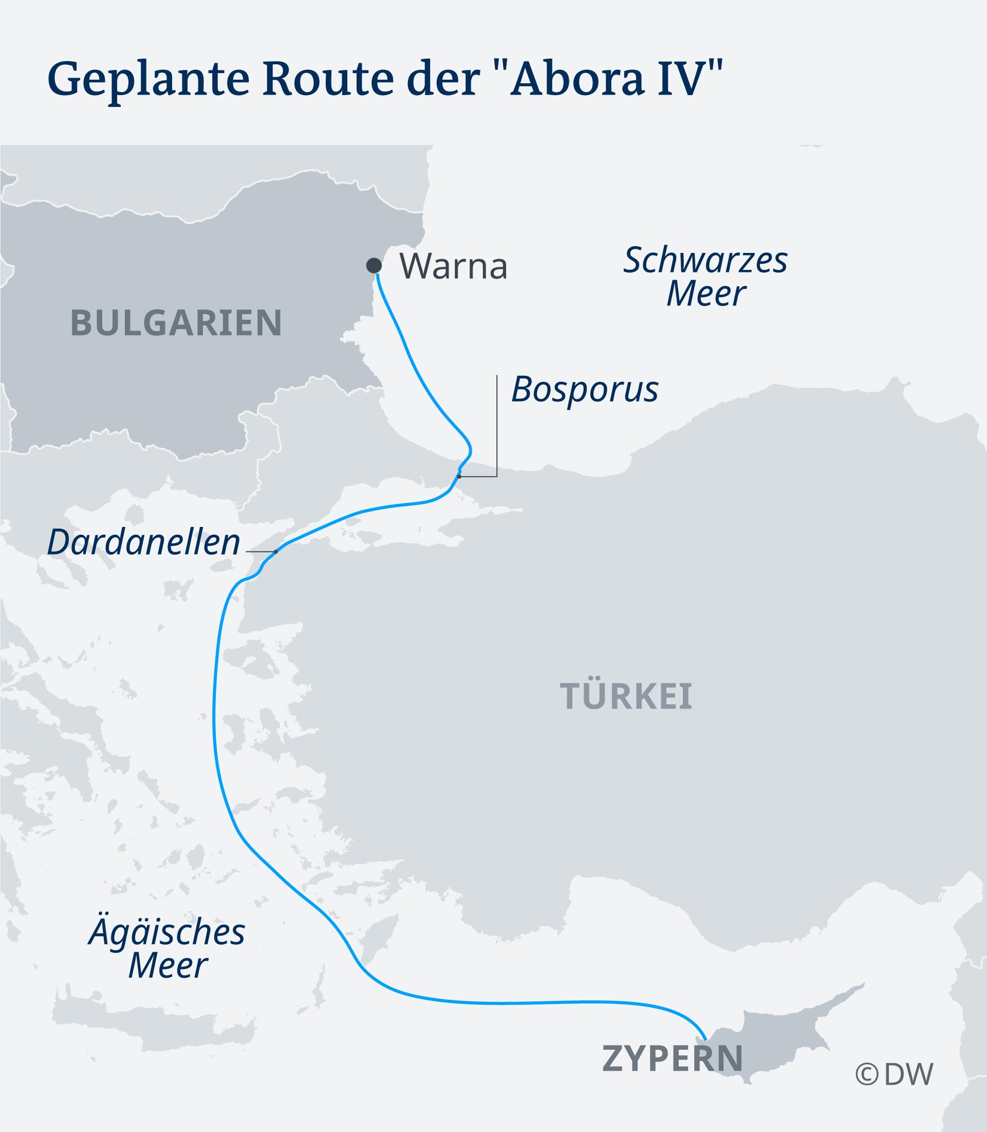 Karte Route der Abora IV DE