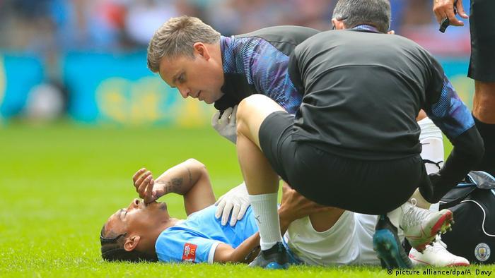 Leroy Sane verletzt (picture alliance/dpa/A. Davy)