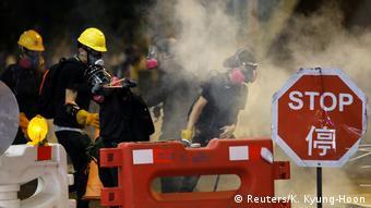 Hongkong Anti-Regierungsproteste - Sicherheitskräfte setzen erneut Tränengas ein