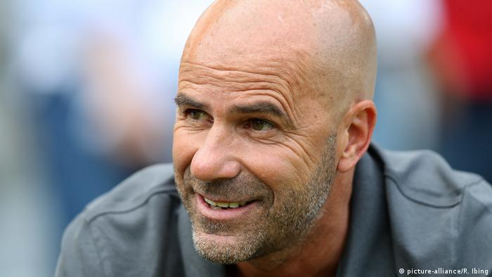Bayer Leverkusen coach Peter Bosz (picture-alliance/R. Ibing)