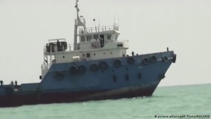 Persischer Golf mutmaßlich durch den Iran festgehaltener Tanker