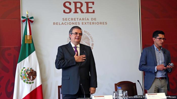 Marcelo Ebrard, ministro mexicano de Relaciones Exteriores, quiere pedir a asesino en extradición.