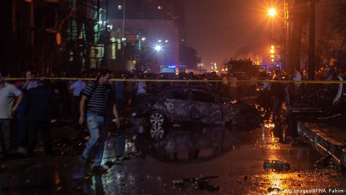 Ägypten Kairo | Explosion nach Unfall vor Krebsforschungsinstitut