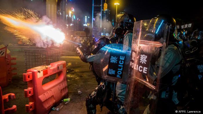 Hong Kong Proteste gegen China - Generalstreik (AFP / I. Lawrence)