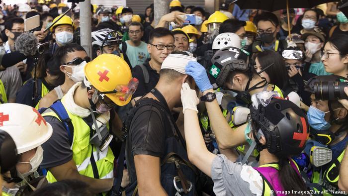 Hong Kong Proteste gegen China - Generalstreik (Imago Images / Zuma / E. Navas)