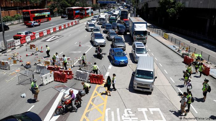 Hong Kong Proteste gegen China - Generalstreik (Reuters / Eloisa Lopez)