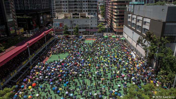 Hongkong Proteste gegen China - Generalstreik (AFP/I. Lawrence)