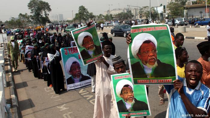 Nigeria Anhänger von Schiiten-Führer Ibrahim Zakzaky (AFP/S. Adelakun)