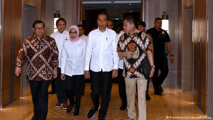 Indonesien Jakarta Präsident Joko Widodo zu Stromausfall (President Secretary/Rusman)
