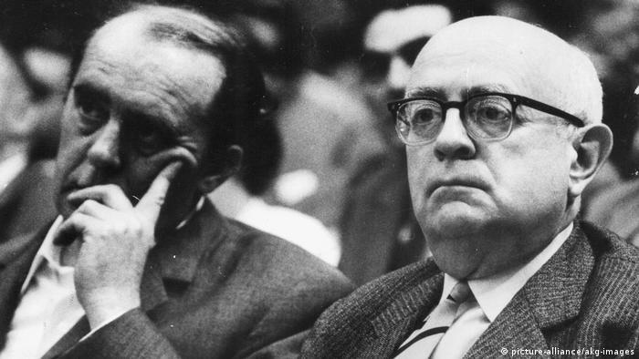 Deutschland Theodor W. Adorno und Heinrich Böll 1968