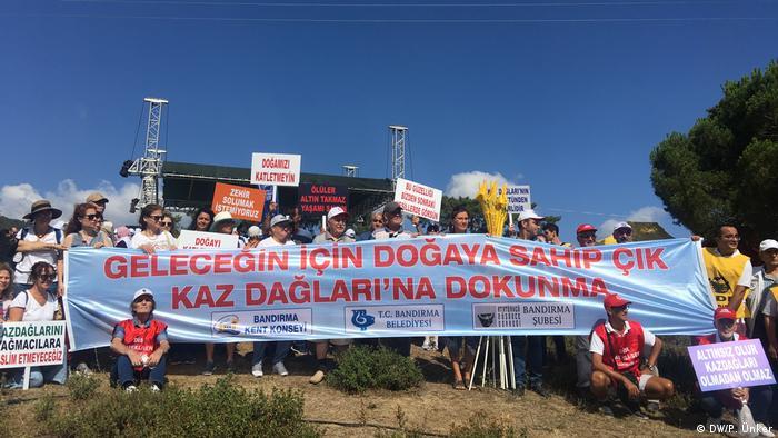 Türkei Canakkale | Proteste im Ida-Gebirge gegen eine Goldmine