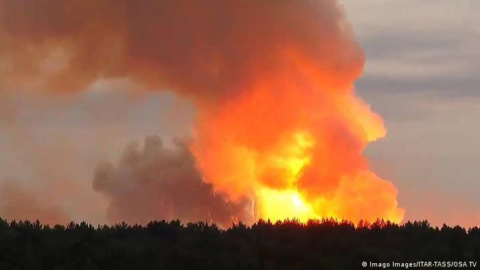 Russland | Explosion in Militäreinrichtung in der Region Krasnojarsk