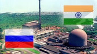 Symbolbild Kernkraft Indien Russland Atomkraftwerk Kernreaktor Two nuclear research reactors, Dhruva, left, and Cirus, right, within the Bhabha Atomic Research Center on the outskirts of Bombay, India's top nuclear facility, is shown in this undated photo. India's nuclear chief said Monday, March 1, 2004 that Indian nuclear facilities were secure and safe from terrorist threats. We are very secure. There should be no fear on that account, said Anil Kakodkar, chairman of India's Atomic Energy Commission. (AP Photo/Department of Atomic Energy)