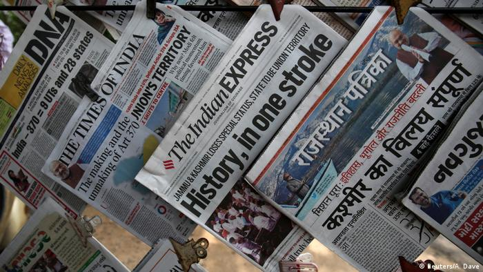 Indian media reporting on Kashmir
