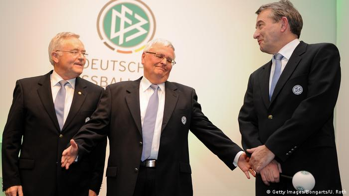 Former German football officials Horst R. Schmidt, Theo Zwanziger and Wolfgang Niersbach