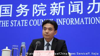 Yang Guang: no subestimen nunca la firme determinación y la inmensa potencia del gobierno central de China. (picture-alliance/dpa/China News Service/Y. Kejia)