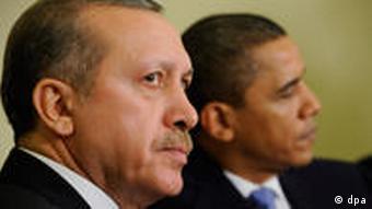 Turkish Prime Minister Recep Tayyip Erdogan and US President Barack Obama