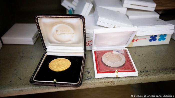 Gold coins from the opened safe