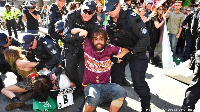 Australien Demonstration in Brisbane gegen Klimawandel
