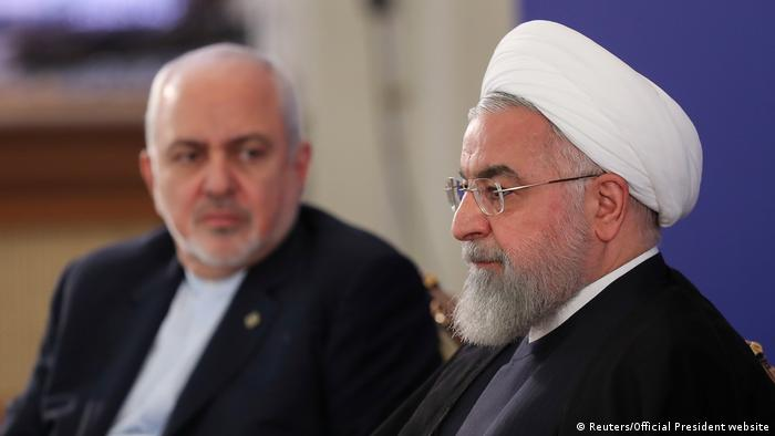 Iran, Teheran: Präsident Hassan Rouhani und Außenminister Mohammad Javad Zarif (Reuters/Official President website)