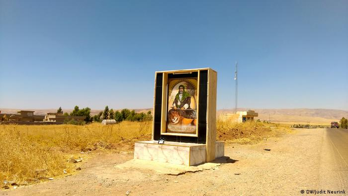Portrait of a Shiite saint on a road