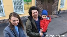 Moskau: Elternpaar Olga und Dmitrij