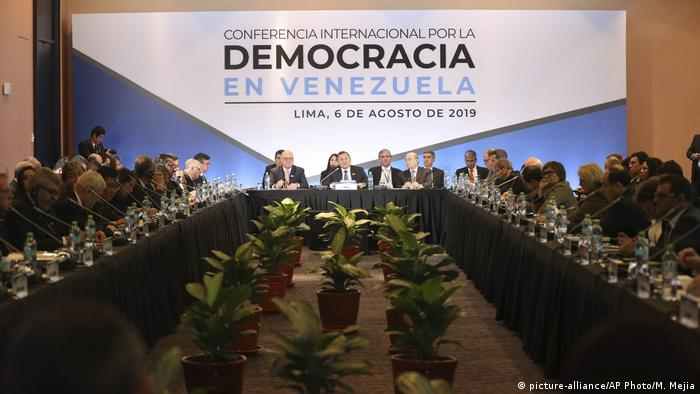Representatives gathered at the conference for Venezuelan Democracy