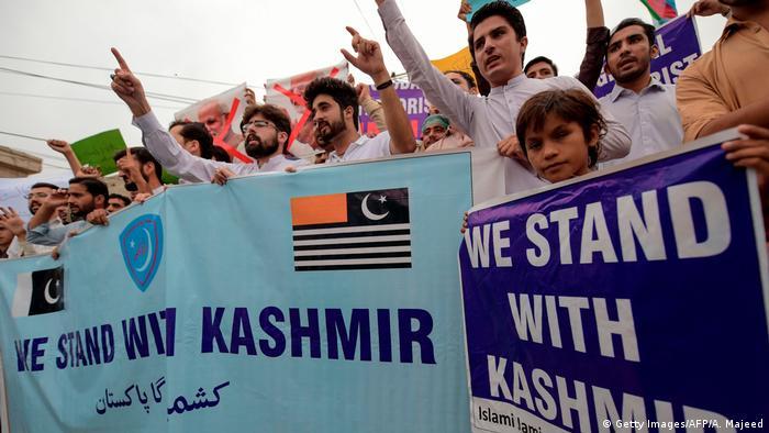 Manifestantes pro Cachemira, Pakistán