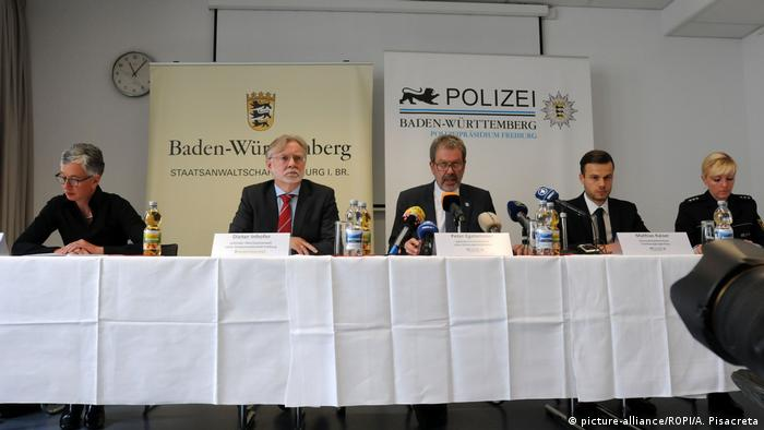 Police press conference in Freiburg May 7, 2019