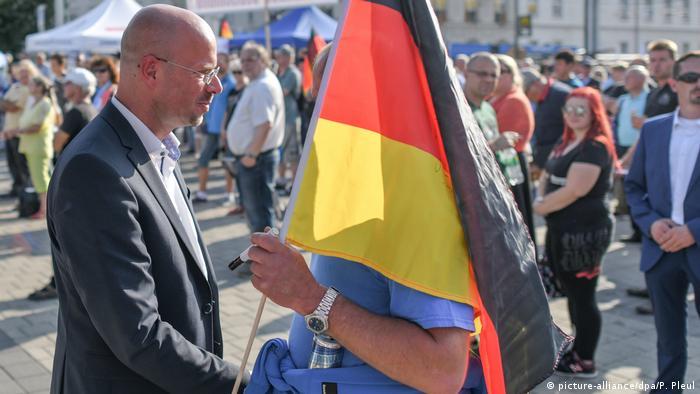 Andreas Kalbitz - Landesvorsitzender der AfD in Brandenburg (picture-alliance/dpa/P. Pleul)