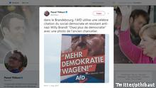 Screenshot von Twitter pthibaut- AfD-Willy Brandt