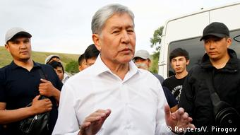 Ex-President Almazbek Atambayev was stripped of legal immunity after a parliamentary vote.