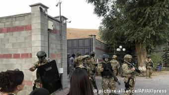 Спецназ у дома Алмазбека Атамбаева, август 2019 г.