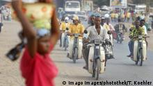 Benin Feinstaub - Strasseverkehr in Cotonou