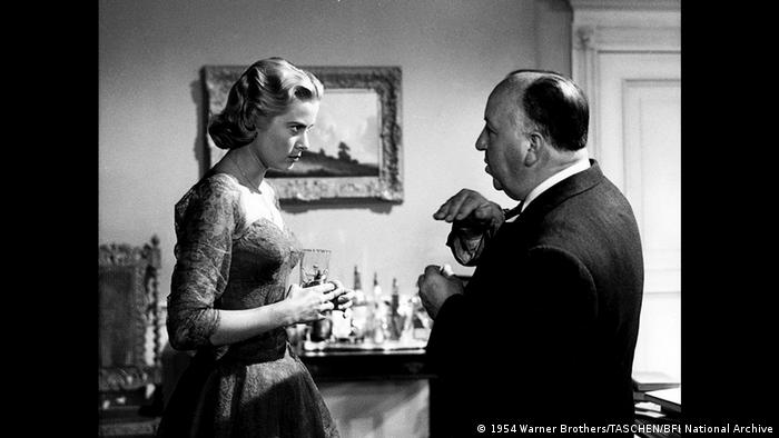 Hitchcock with Grace Kelly on the set of Dial M for Murder (1954 Warner Brothers/TASCHEN/BFI National Archive)