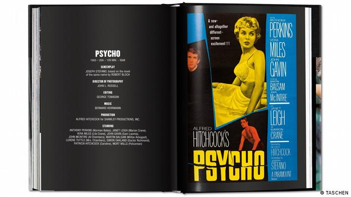 Page from Alfred Hitchcock: The Complete Films showing Psycho (TASCHEN)