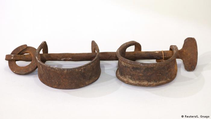Shackles used during the crossing of the Atlantic.