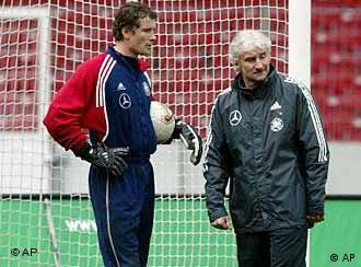 On the bench at Arsenal? Lehmann still has a place in Coach Rudi Völler's national team.