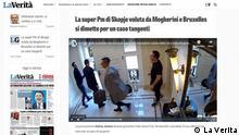 Italianische Zeitung La Verita über das Skandal in Nordmazedonien