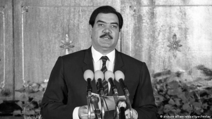 Former Afghan president Mohammad Najibullah