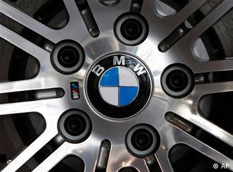 BMW symbol in the middle of a hub cap