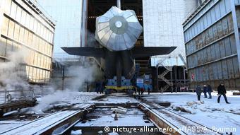 Спуск на воду атомной подлодки Казань