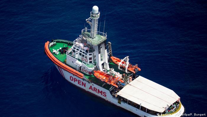Rettungsschiff «Open Arms» (picture-alliance/dpa/F. Bungert)