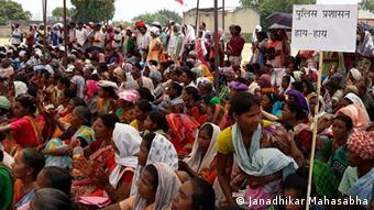Indien Protestaktion in Jharkhand