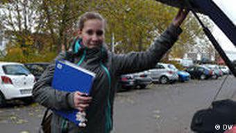 Anne Sauer pendelt zwischen Wohnort und Leistungszentrum (Foto: DW)