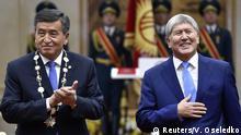 Kirgisistan Sooronbai Dscheenbekow und Almasbek Atambajew