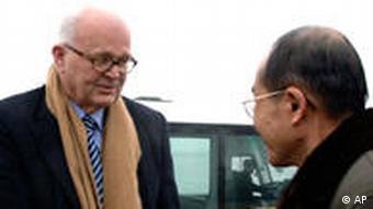 USA Südkorea Nordkorea Stephen Bosworth Händeschütteln
